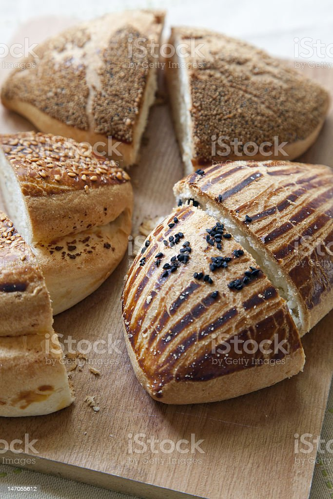 sliced savory pastry royalty-free stock photo