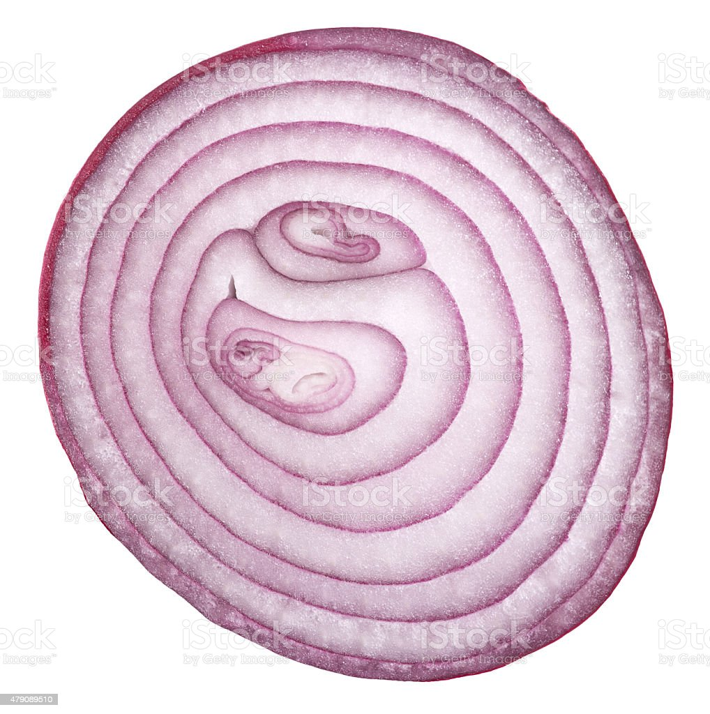 sliced shallot stock photo