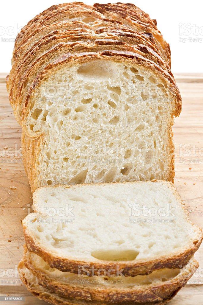 Sliced Sourdough Bread stock photo