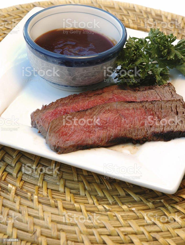 Sliced Steak royalty-free stock photo