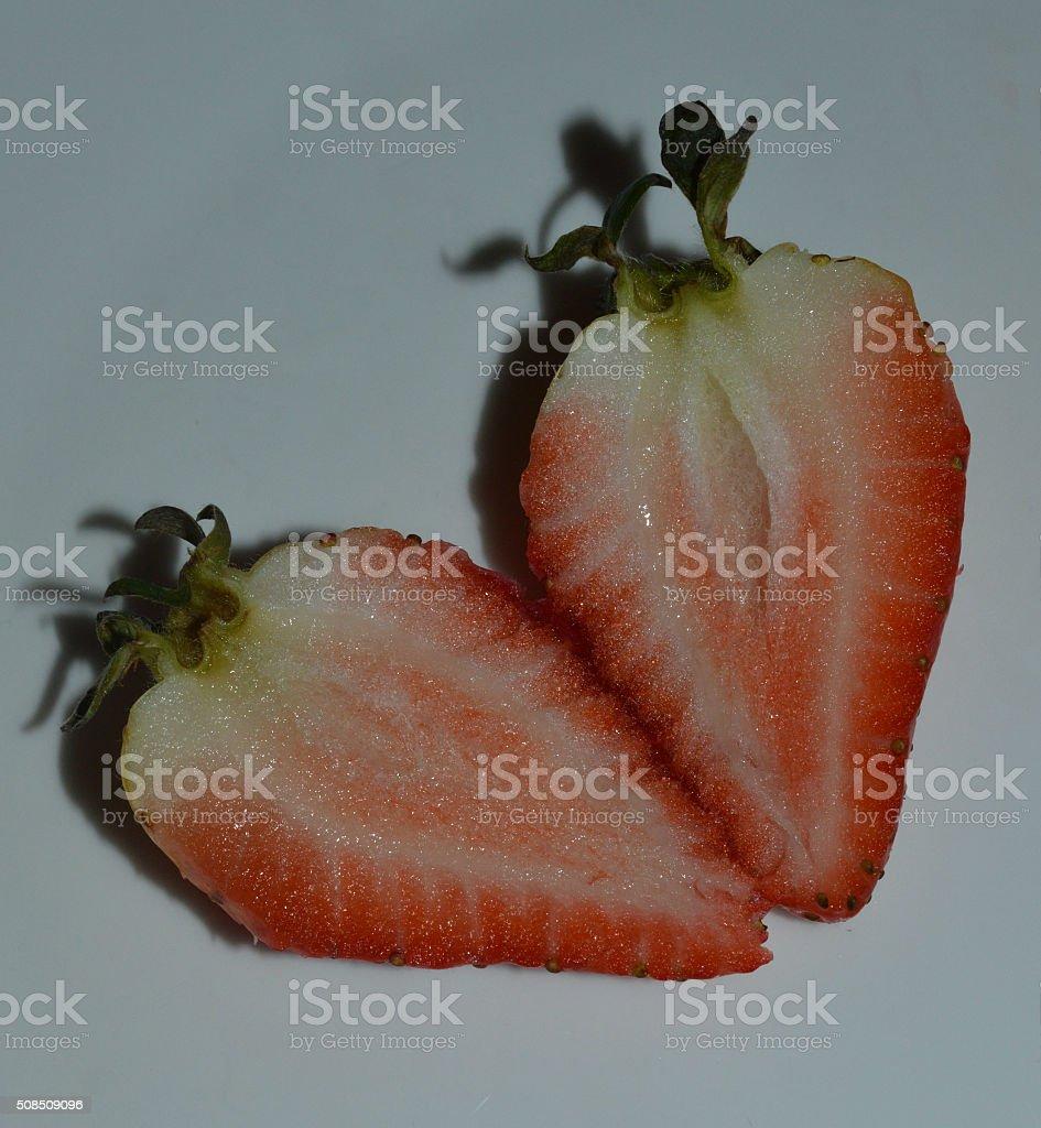 Sliced Strawberry royalty-free stock photo