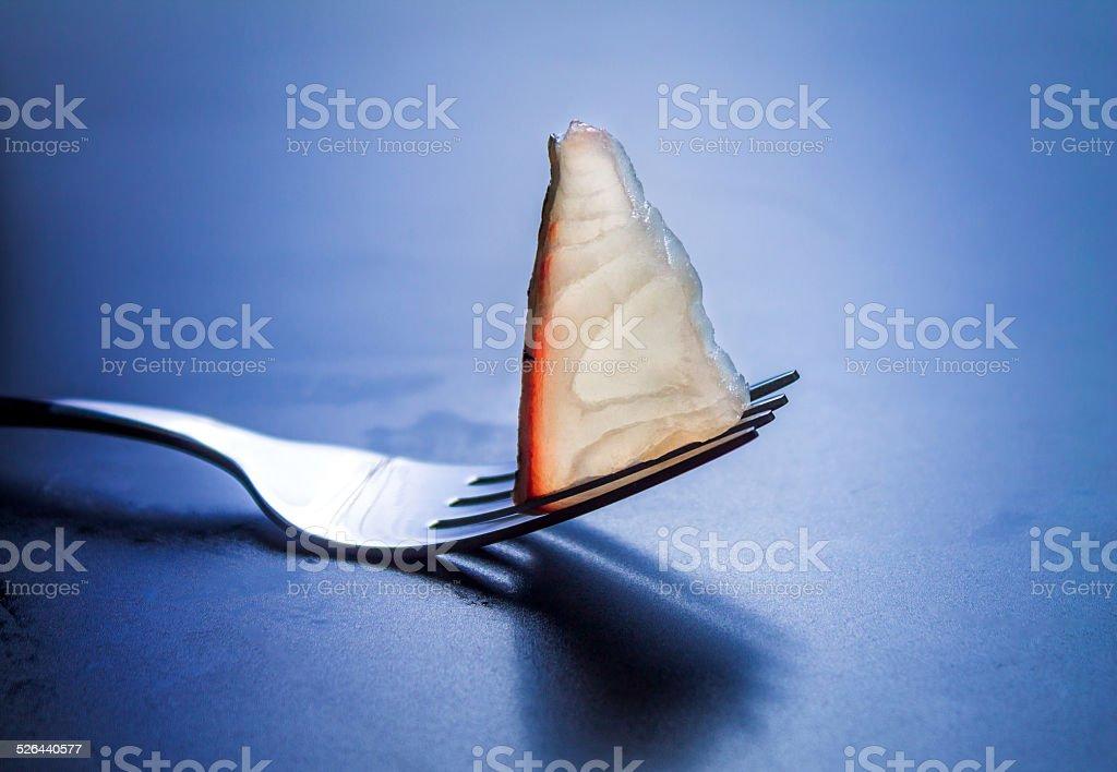 Sliced Tilapia stock photo