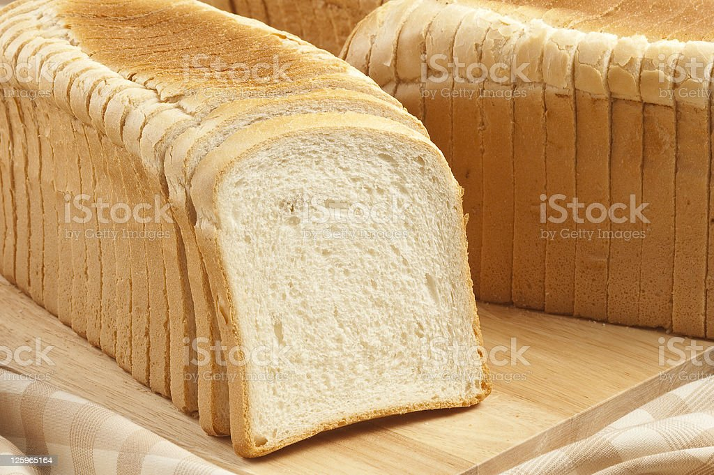 sliced toast bread stock photo