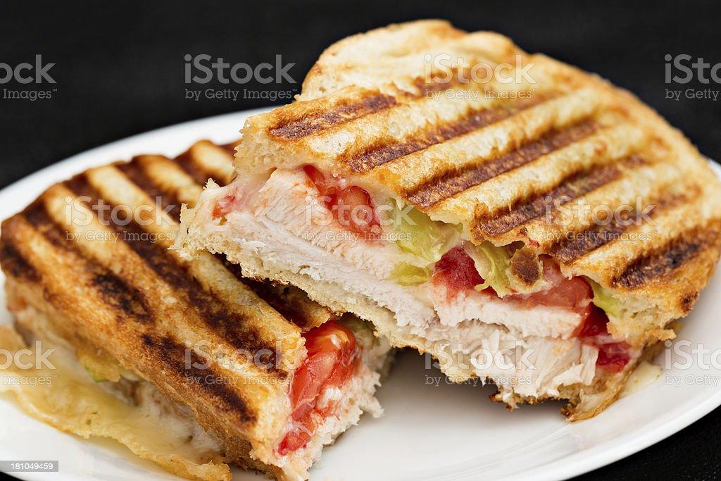 Sliced Turkey Panini stock photo