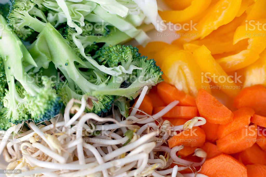 Sliced vegetables royalty-free stock photo