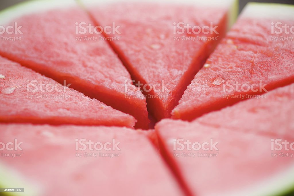 sliced watermelon background stock photo