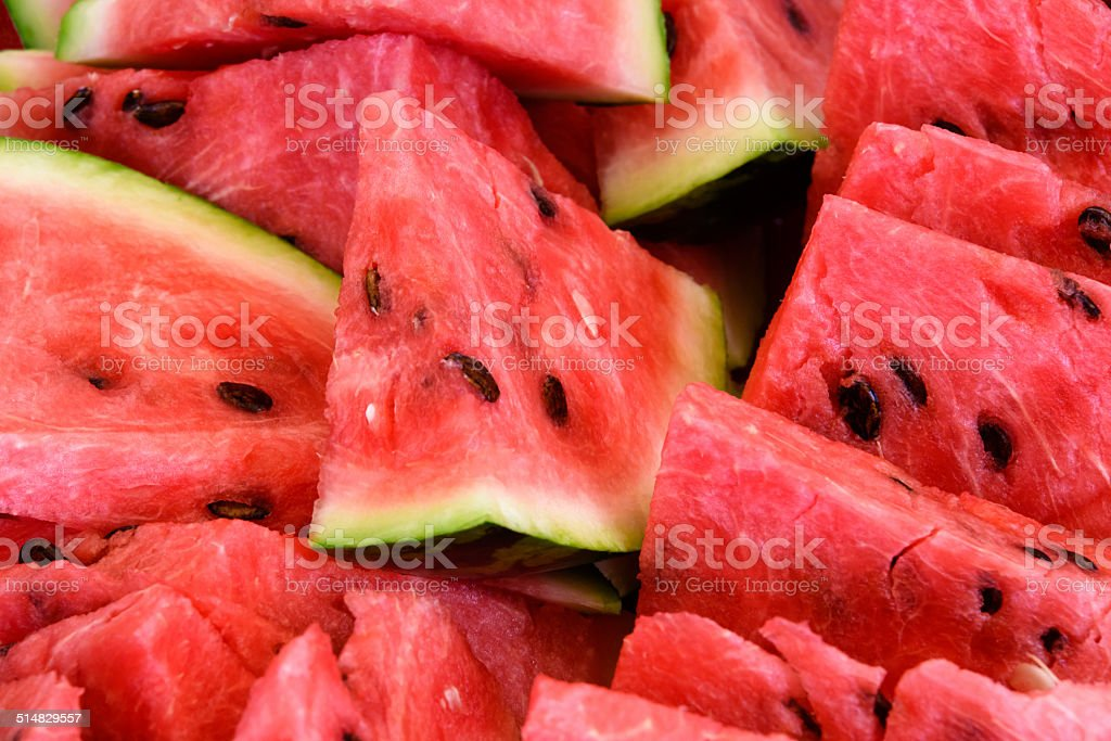 Sliced watermelon stock photo