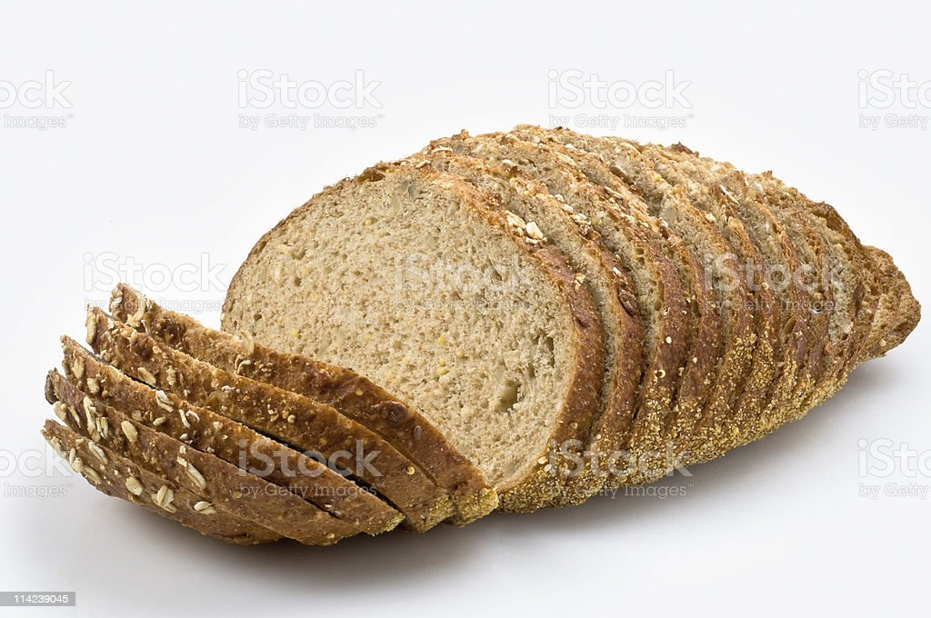 Sliced whole wheat bread stock photo