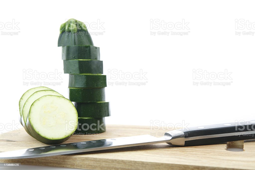 Sliced zucchini royalty-free stock photo