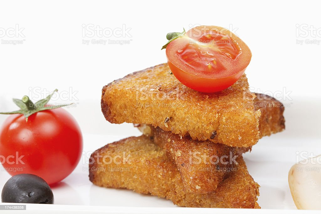 slices bread and tomato royalty-free stock photo