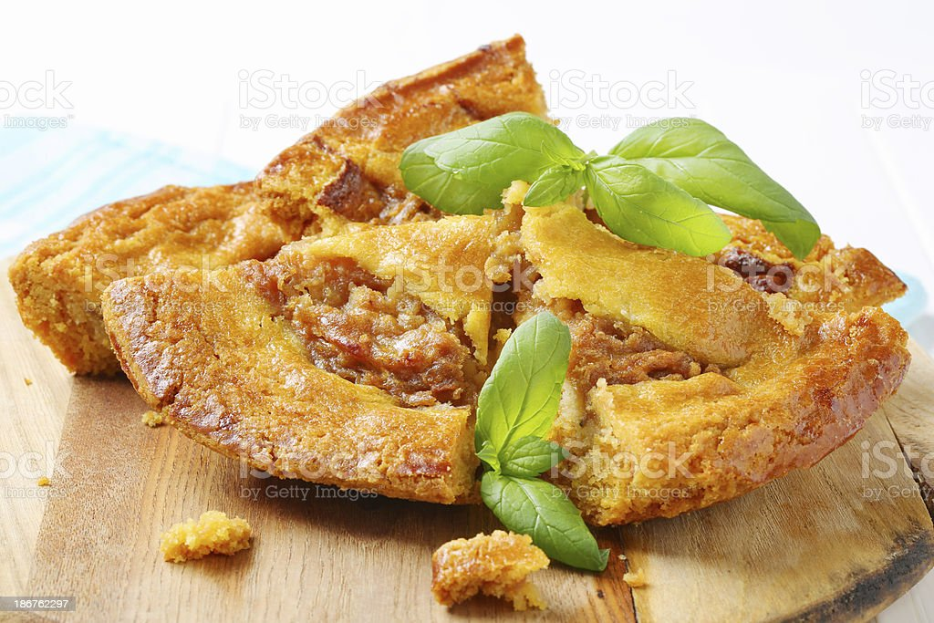 slices of apple pie royalty-free stock photo