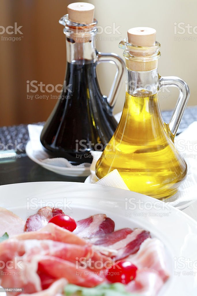 slices of bacon and sauce royalty-free stock photo