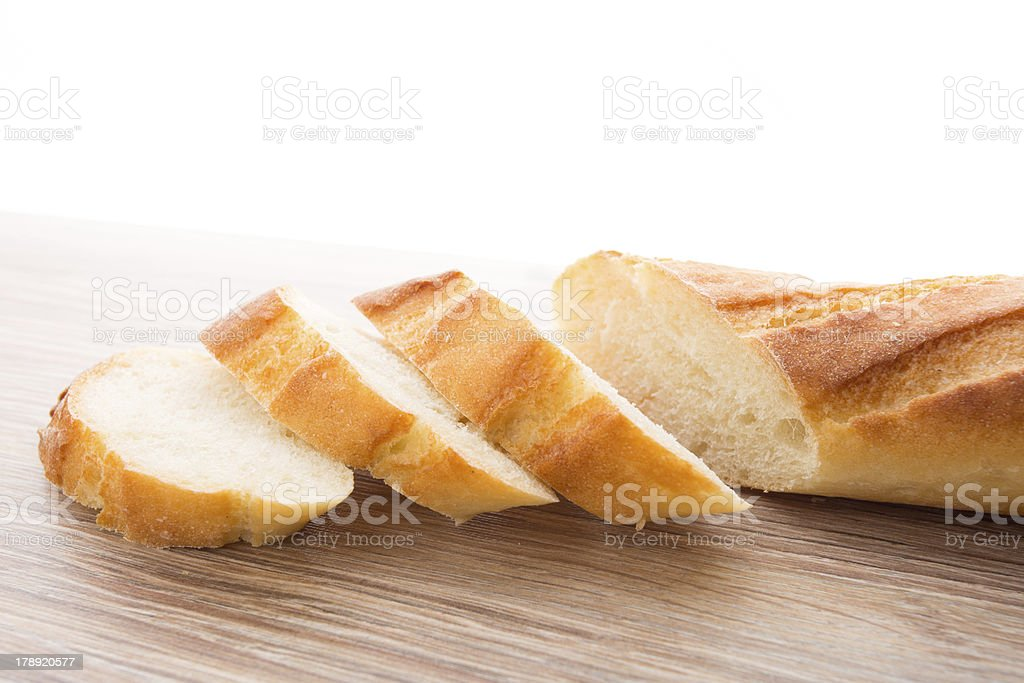 Slices of baguette royalty-free stock photo