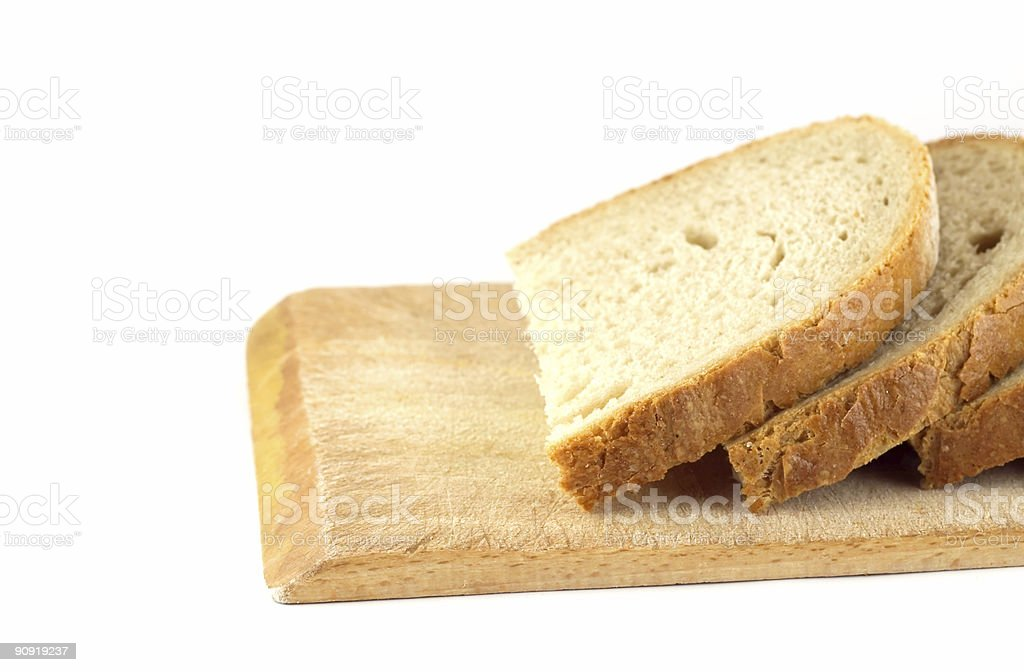 Slices of bread stock photo