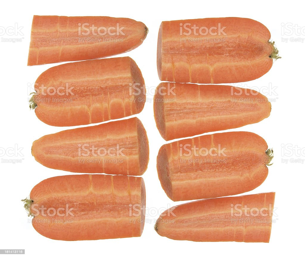 Slices of Carrots royalty-free stock photo