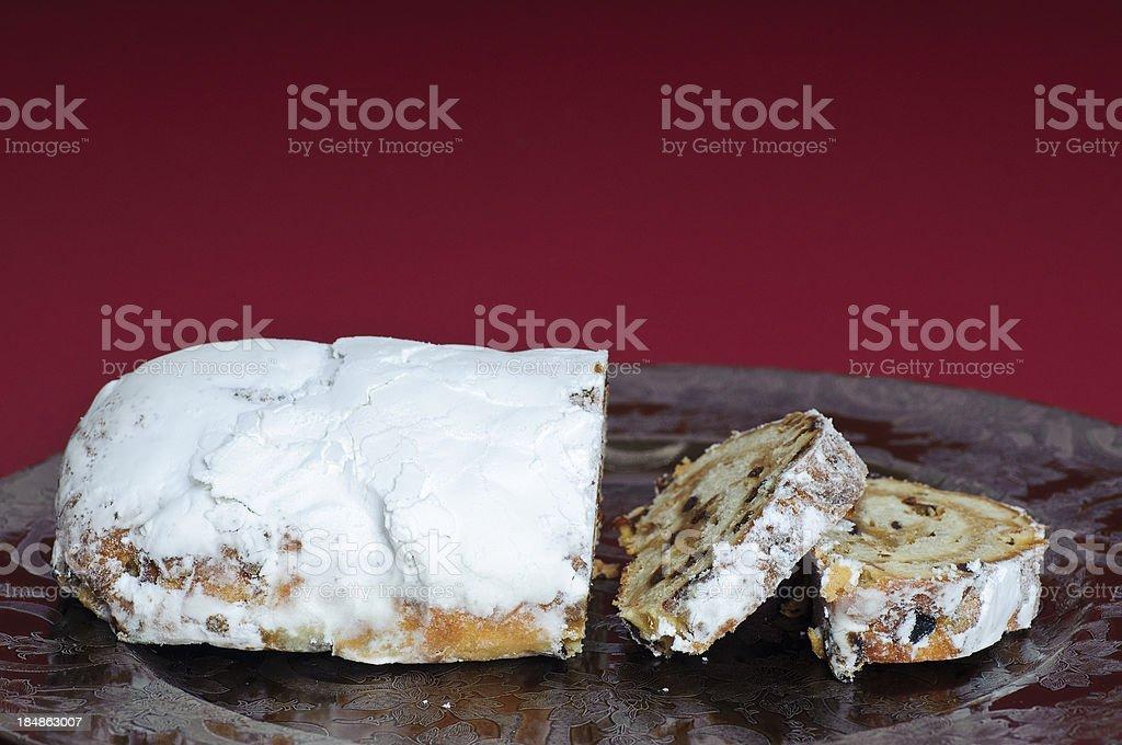 Slices of Christmas Cake stock photo