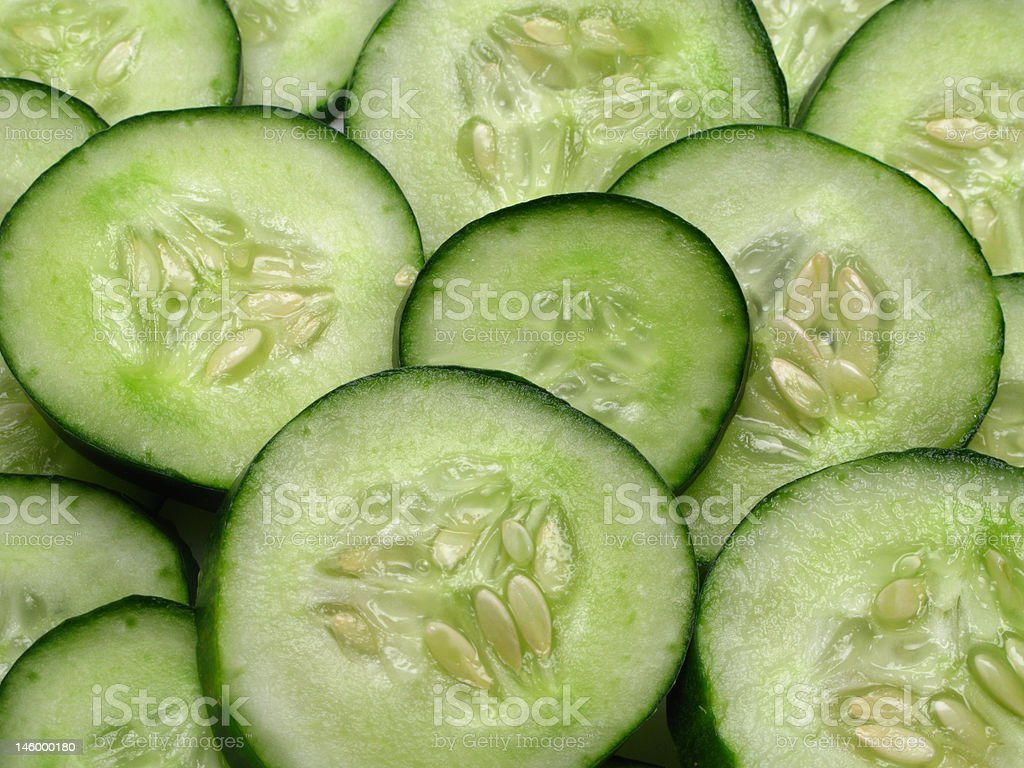 Slices of cucumber royalty-free stock photo
