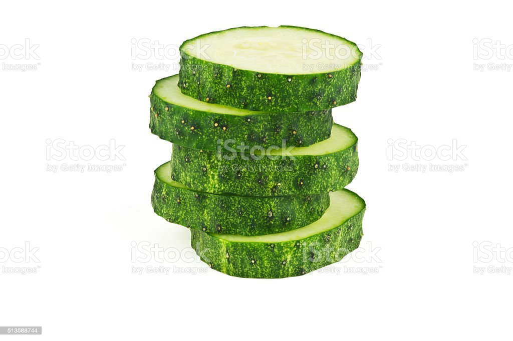 slices of cucumber stock photo
