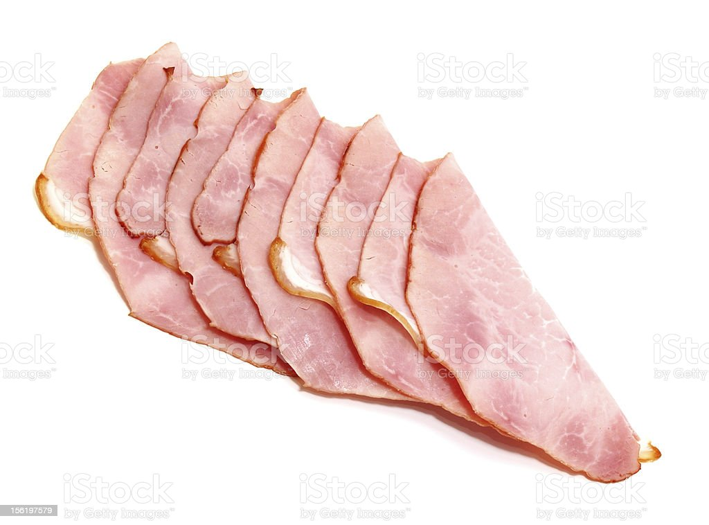 slices of delicious ham stock photo