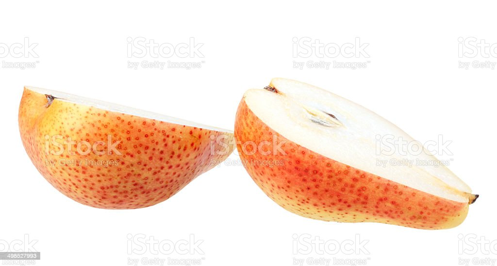 Slices of fresh pear stock photo