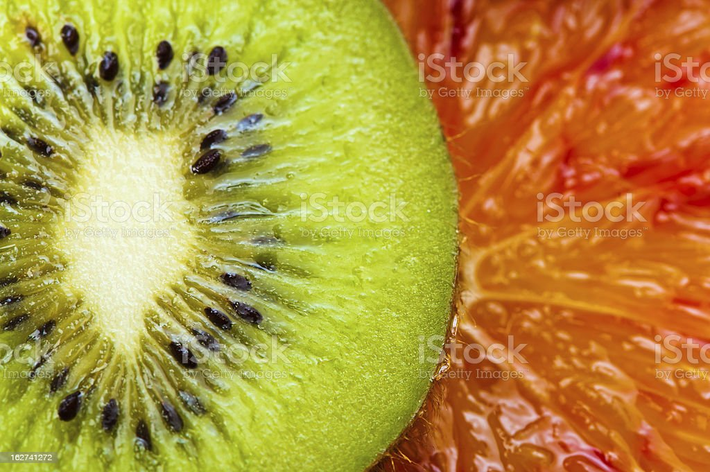 slices of kiwi and orange royalty-free stock photo