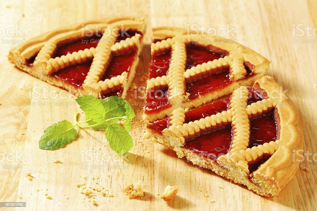 slices of lattice pie royalty-free stock photo