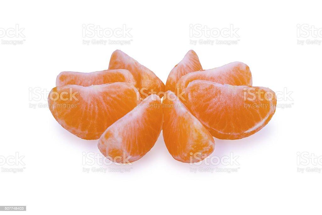 Fatias de tangerina foto royalty-free