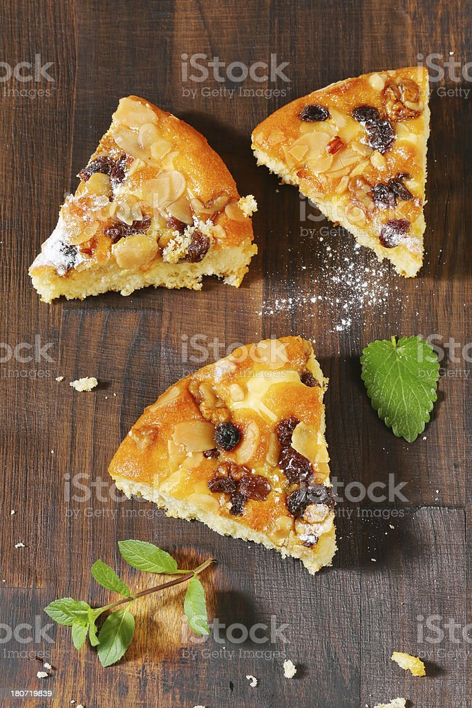 slices of nut tart royalty-free stock photo