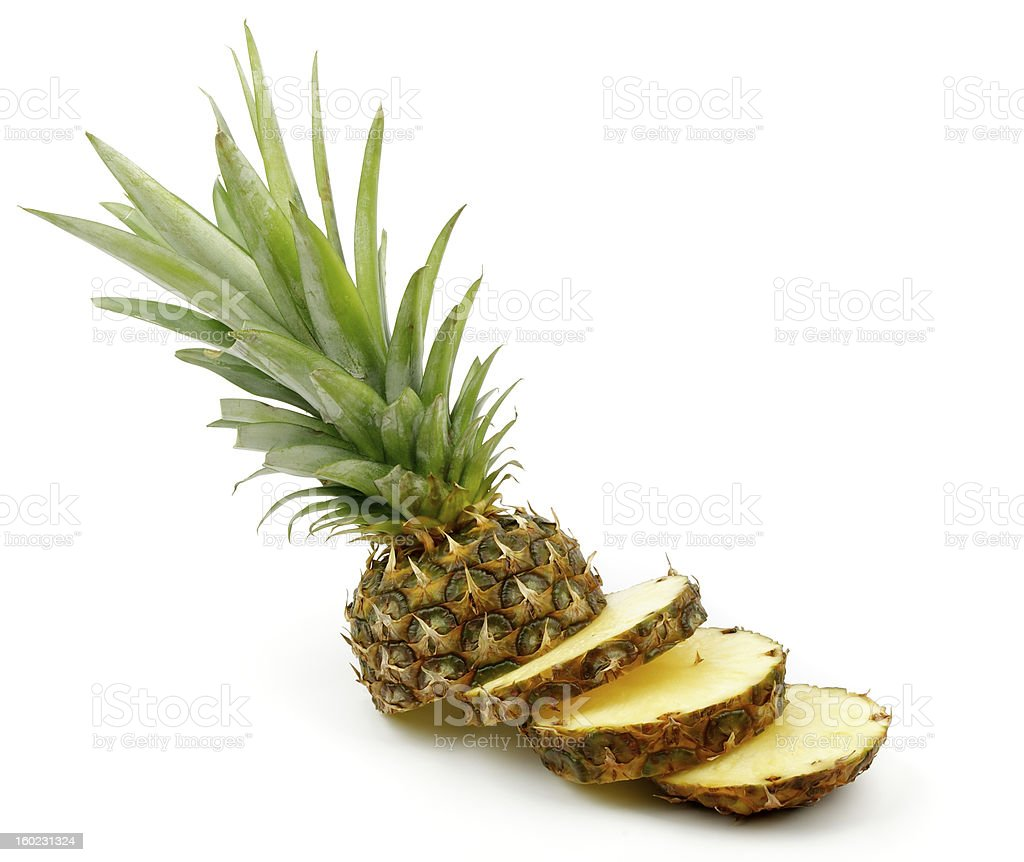Slices of Pineapple royalty-free stock photo