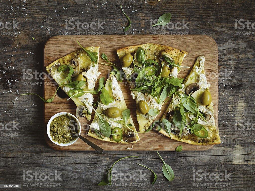 Slices of pizza stock photo