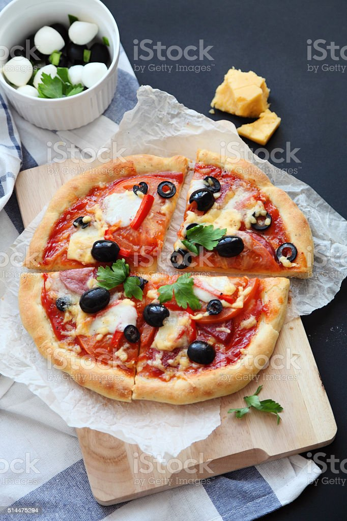 Slices of pizza stock photo