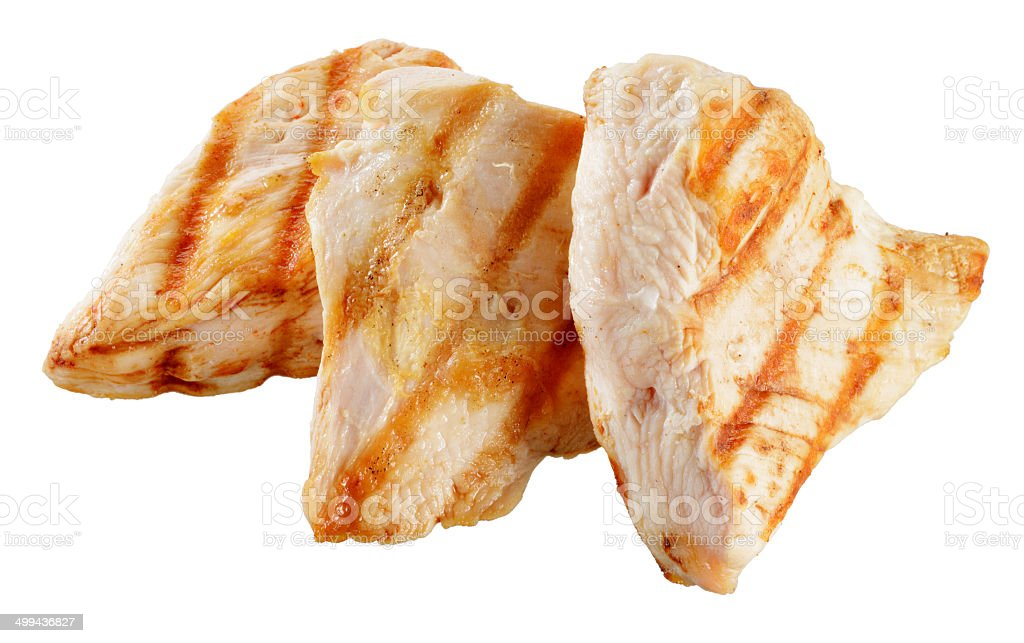 Slices of roasted turkish breast. stock photo
