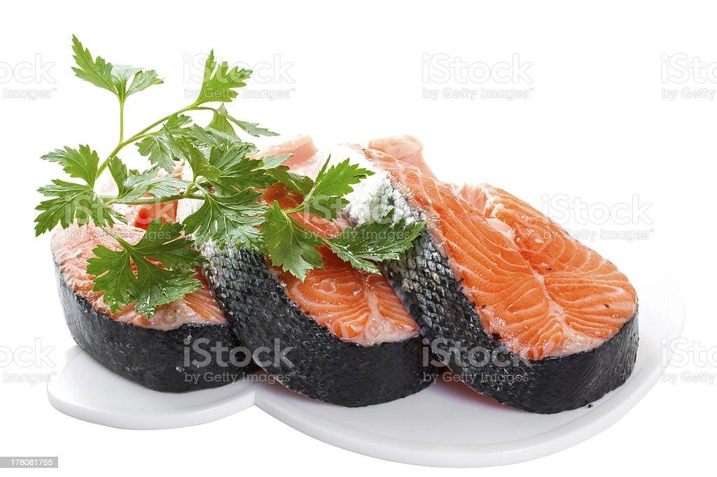 Slices of salmon royalty-free stock photo