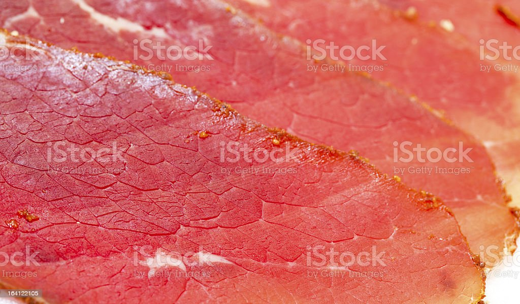 Slices of Smoked Meat royalty-free stock photo