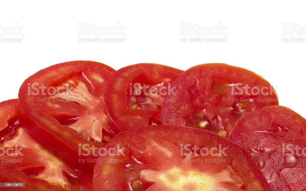Slices of tomato. stock photo