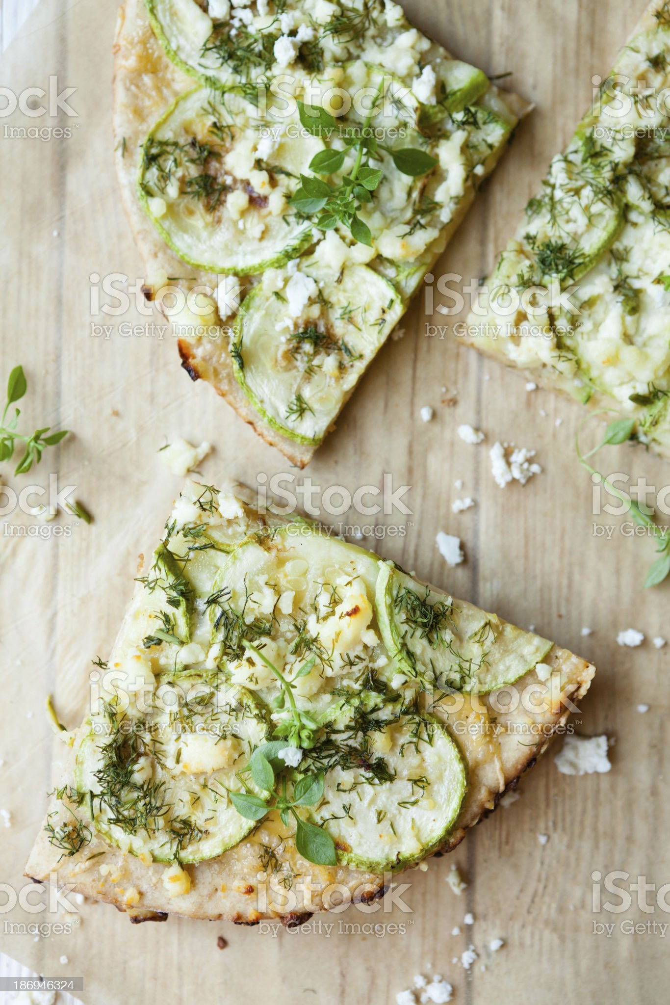 slices of vegetable pizza with cheese royalty-free stock photo