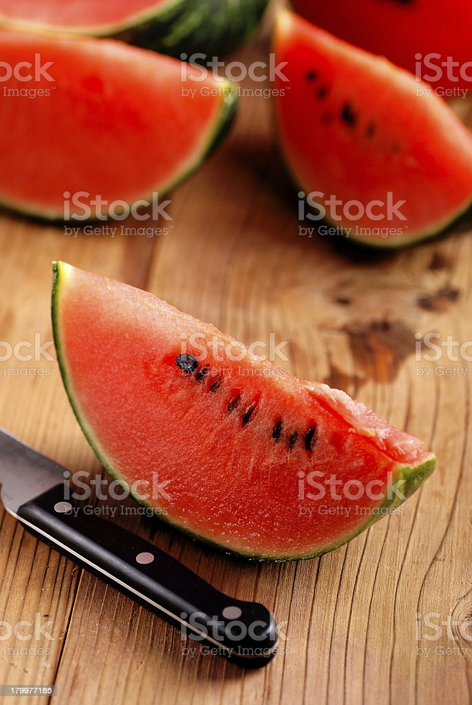 slices of watermelon royalty-free stock photo