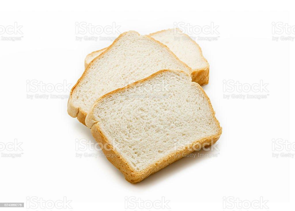 Fatias de pão branco isolado foto royalty-free