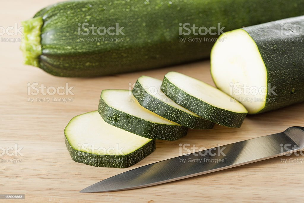 Slices of zucchini royalty-free stock photo