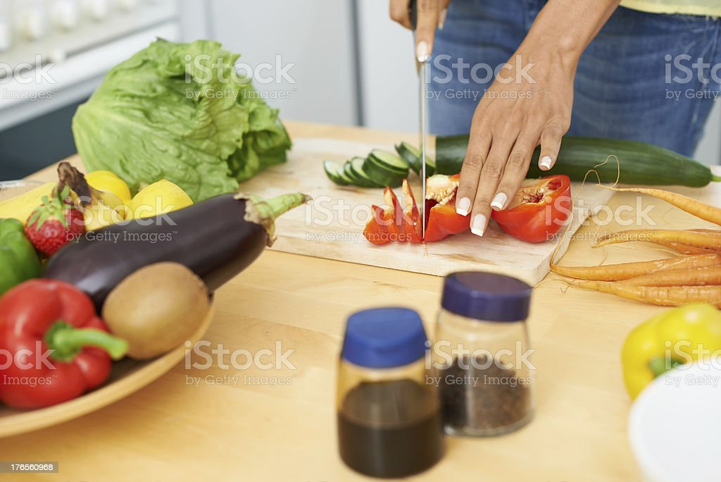 Slicing up a storm royalty-free stock photo