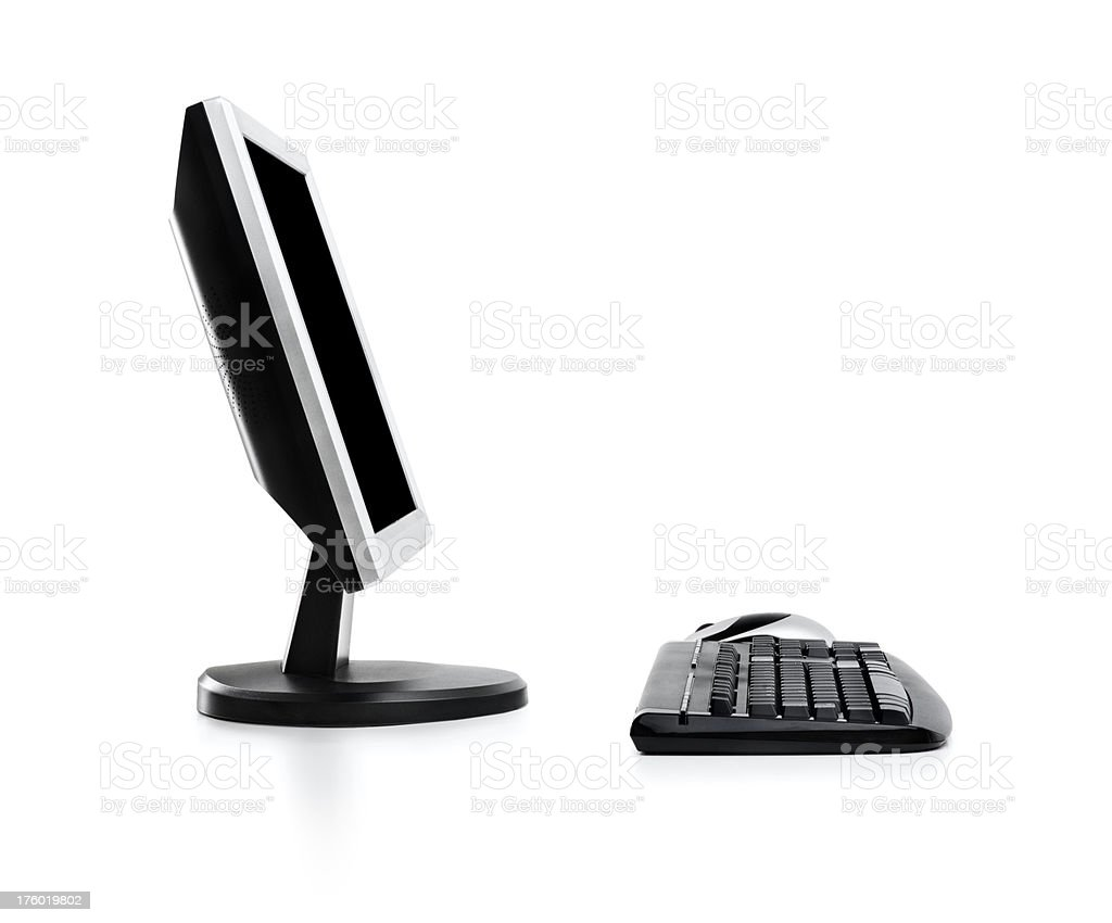 Slick PC with clipping path isolated on white royalty-free stock photo