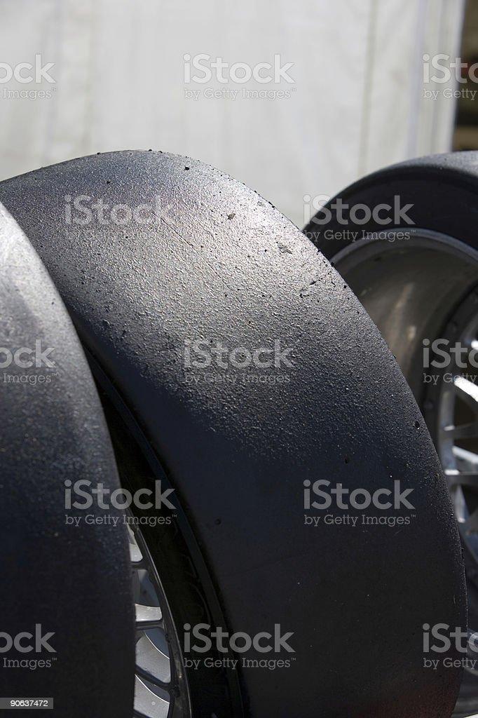 Slick Racing Tires royalty-free stock photo