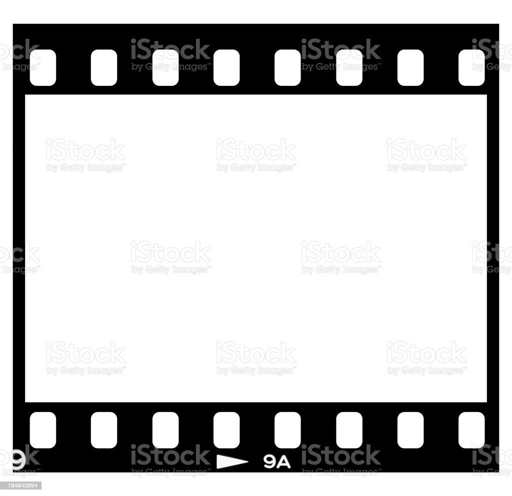 Slide film frame on white royalty-free stock photo