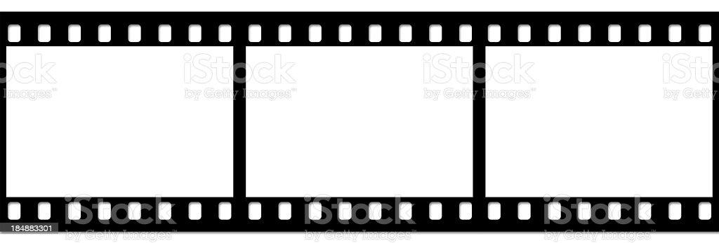 Slide film strip on white stock photo