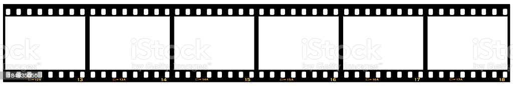 Slide film strip on white stock photo