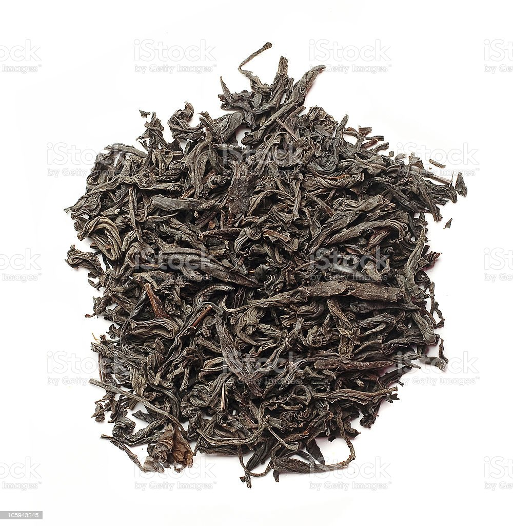 Slide aromáticas té negro foto de stock libre de derechos