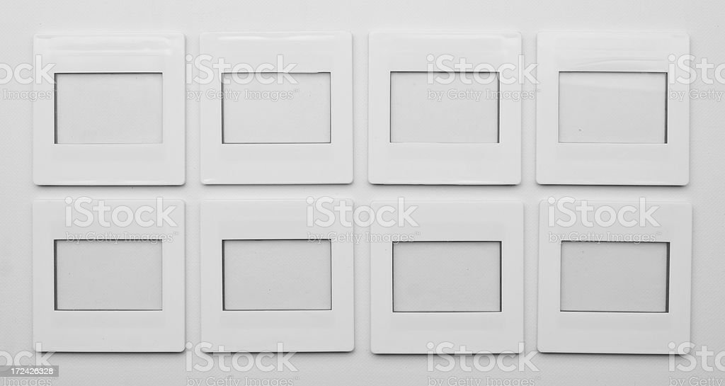 Slide holders stock photo