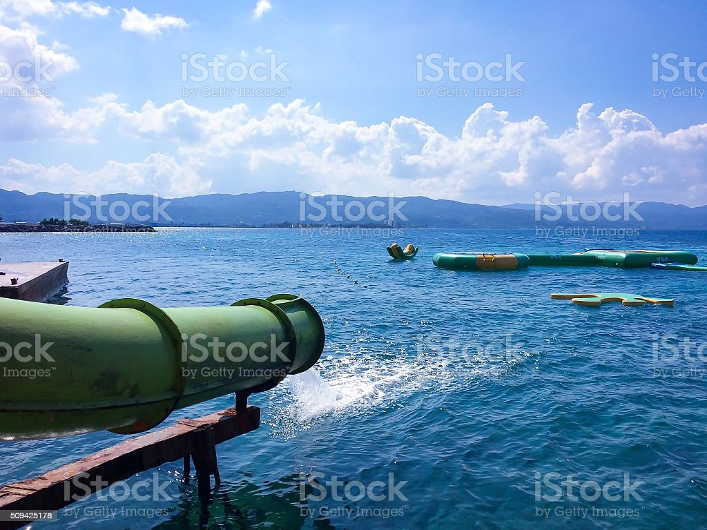 Slide into the Caribbean stock photo