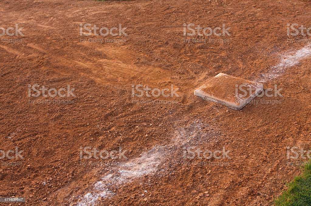 Slide into Third Base royalty-free stock photo