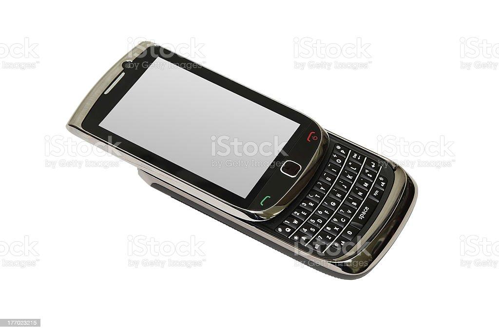 Slide mobile phone stock photo